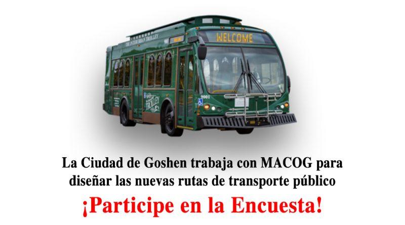La Ciudad de Goshen trabaja con MACOG para diseñar las nuevas rutas de transporte público