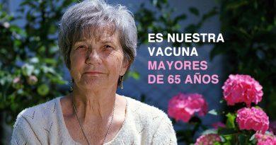 MAYORES DE 65 AÑOS, ES NUESTRO TURNO