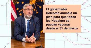 El gobernador Holcomb anuncia un plan para que todos los Hoosiers se puedan vacunar desde el 31 de marzo