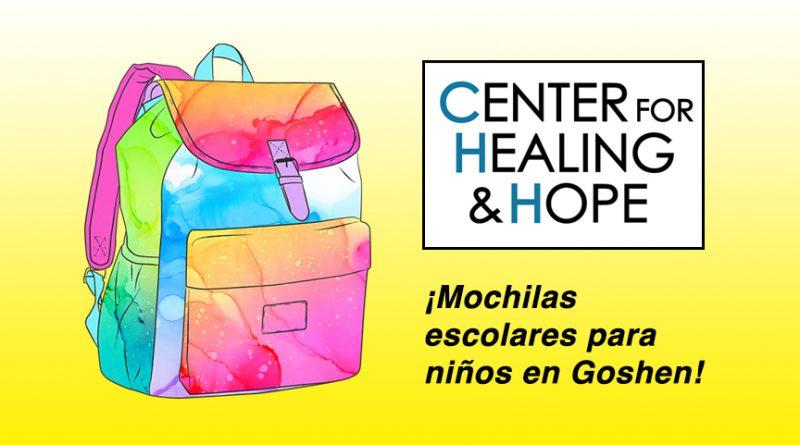El Center for Healing and Hope repartirá mochilas escolares para niños en Goshen