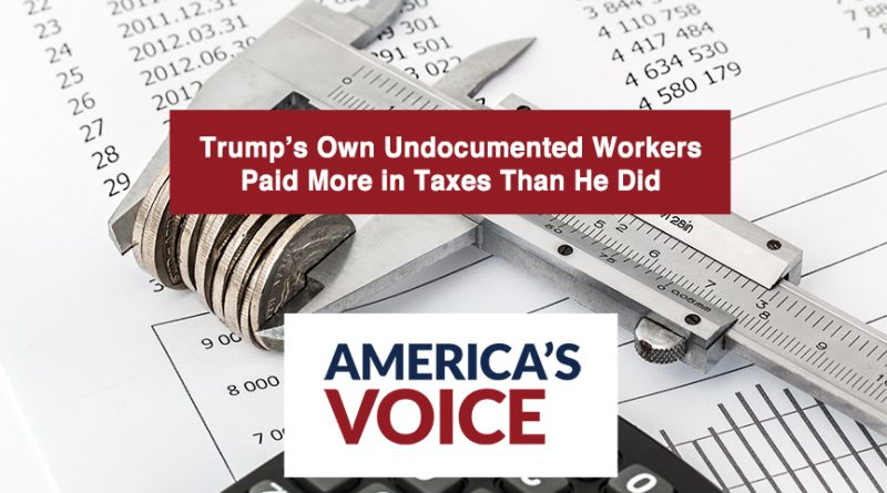 Trump's Own Undocumented Workers Paid More in Taxes Than He Did