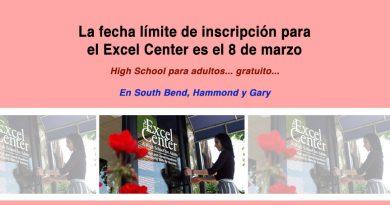 La fecha límite de inscripción para el Excel Center es el 8 de marzo