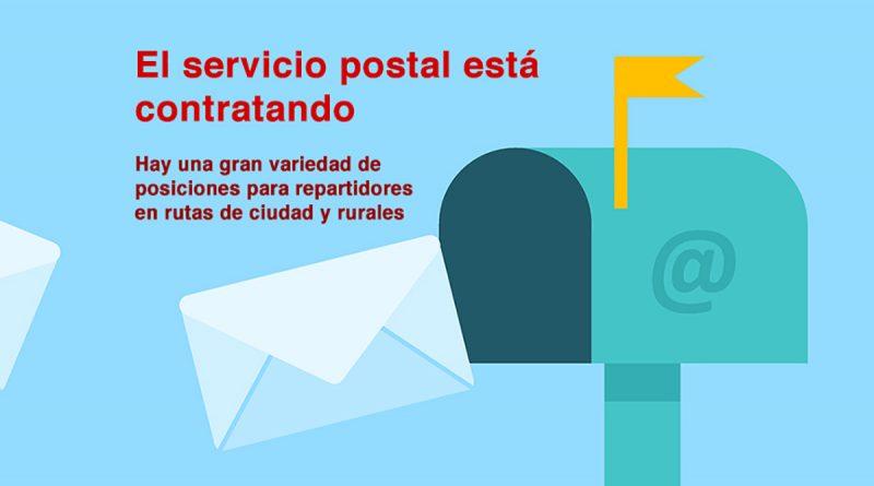 El servicio postal está contratando